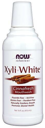 (NOW Xylitol Mouthwash, Cinnafresh, 16-Ounce)