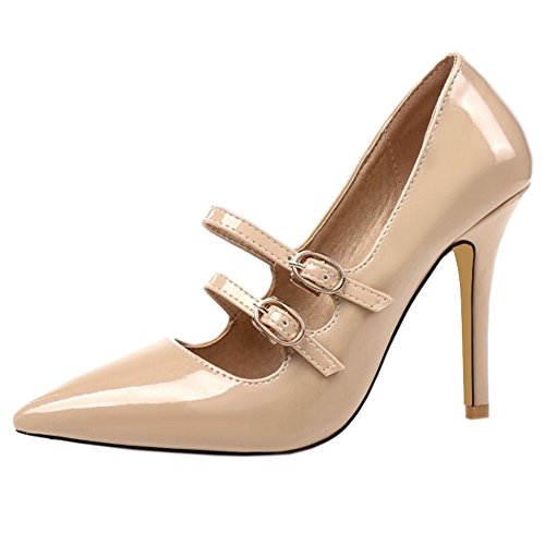 Office SJJH Shoes Apricot with Court Pointed Ladies Working Toe Stiletto for Shoes and Sexy PrqPwxTOa