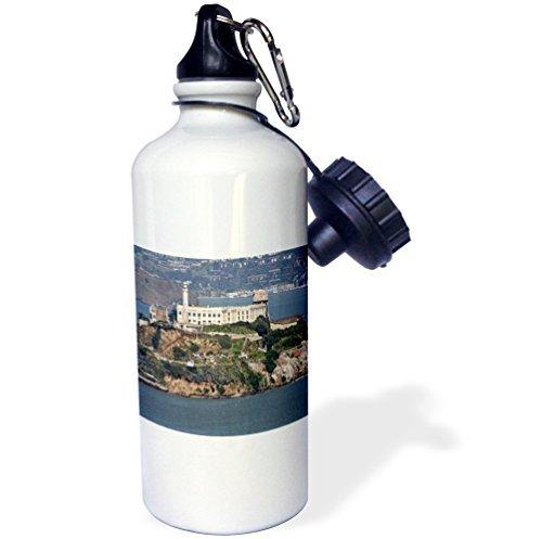Sports Water Bottle Gift, Alcatraz Island White Stainless Steel Water Bottle for Women Men 21oz