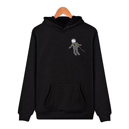 Fashion Astronaut simple Embroidery Hoodie Sweatshirt With Kangaroo Pocket Pullover Simple Mens Hoodie