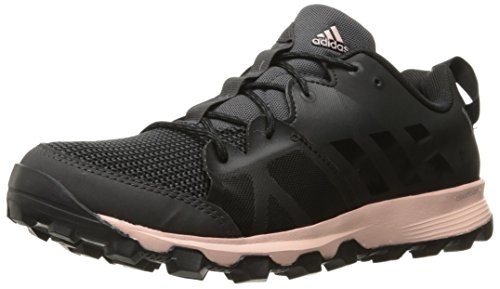adidas Outdoor Women's Kanadia 8 Trail Runner, Utility Black/Black/Vapour Pink, 9.5 M US