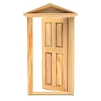 Amazon Com 1 12 Diy Mini Miniature 4 Panel Wooden Classical