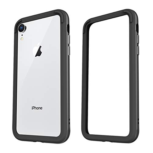 Kutop Case for iPhone XR, TPU Hybrid Bumper Frame Case Protective Frame Cover Slim Thin Shockproof Hard Case Premium Raised Edge Protection Compatible for iPhone XR, 6.1inch,2018, Black