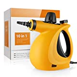 Pop V Unknown Handheld Pressurized Cleaner 9-Piece Accessory Set Purpose Multi-Surface All Natural, Chemical-Free Cleaning Home, Auto, Patio (New Orange)