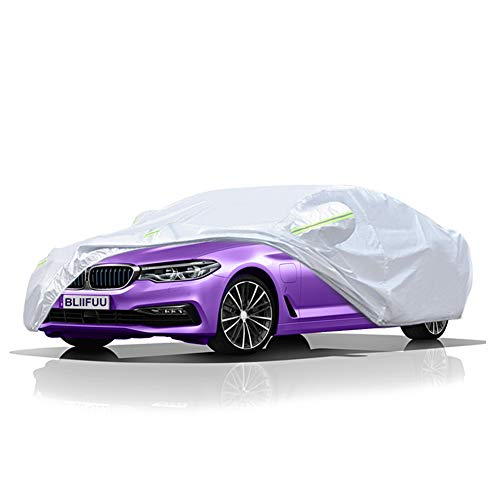 - BLIIFUU Sedan Car Cover UV Protection Car Cover for Outdoor Indoor Waterproof/Windproof/Snowproof, Full Size Breathable Cover Fit Sedan (185