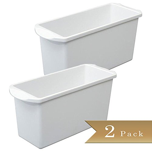 Set of 2 - Ice Cube Bin - Container - Box