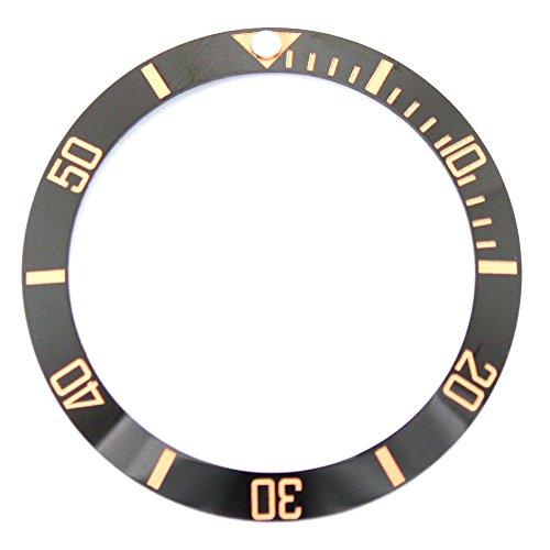 Bezel Insert To Fit Rolex Men's Submariner - Black / Rose Gold Ceramic