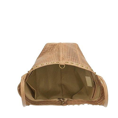 Borse bandoulière avec 53x34x20 à Cm en Made Sac imprimé en main Chicca cuir Italy cuir tressé véritable Boue in Z0xwqC