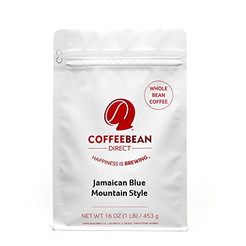 Coffee Bean Direct Jamaican Blue Mountain Style, Whole Bean Coffee, 16-Ounce Bags (Pack of 3)