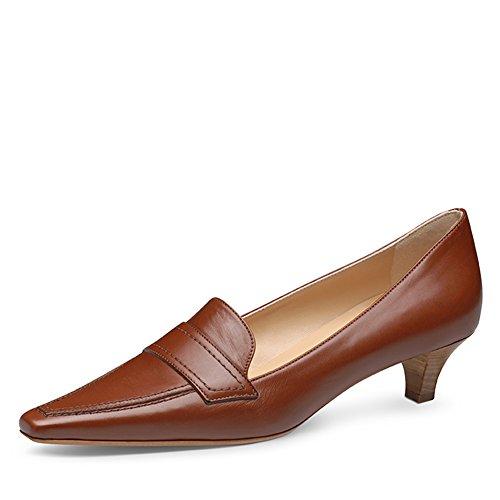 marrone Col Shoes Marrone Evita Tacco Scarpe Donna aqz6ggYx