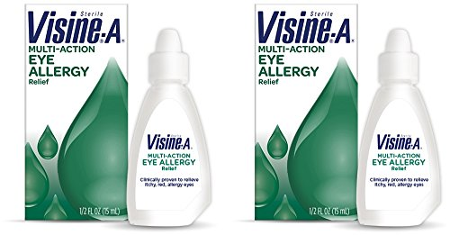 Visine-A Multi-Action Eye Allergy Relief, 0.5 oz (Pack of 2)