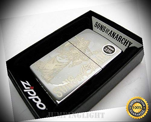 (High Polish Chrome Sons of Anarchy Reaper Windproof Lighter 28957 - Premium Lighter Fluid (Comes Unfilled) - Made in USA! )