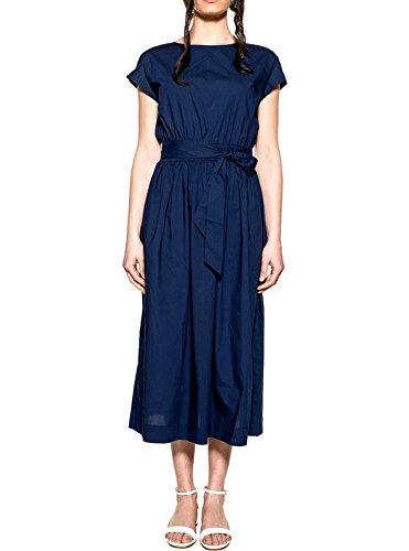 Indigo W's Popeline Dress Woolrich Abito Belted ZvxqXz