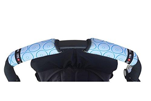 Tris&Ton Fundas empunaduras horizontal doble Modelo Celeste, empunadura funda para silla de paseo cochecito carrito carro (Tris y Ton) (Celeste)