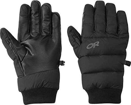Outdoor Research Unisex Transcendent Down Gloves, Black, XS