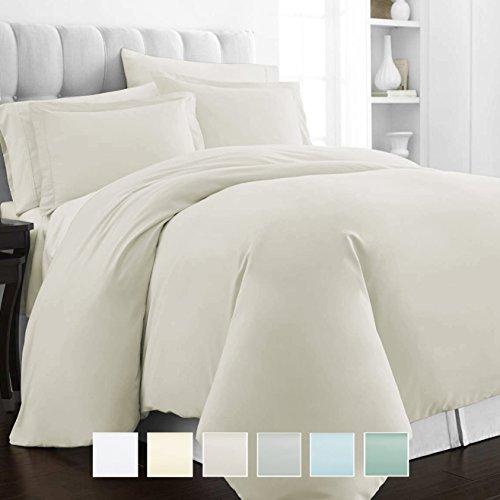 Pizuna 400 Thread Count Cotton Queen Duvet Cover Set, 100% L