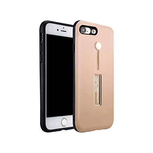 iPhone 7 Case, iPhone 8 Case, Amerzam Soft Rubber Anti-Scratch Shockproof Protective Case Protection Cover with Finger Silicone Strap and Metal Stand for iPhone 7 & iPhone 8