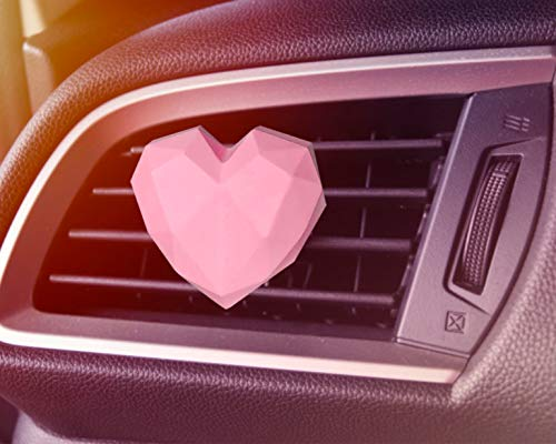 DANUC Car Air Diffuser Car Vent Air Fresheners With Clips Cute Pink Love Heart Essential Oil Diffuse Stone Car Accessories Auto Decorations Ornaments Decor For Women Men Girls Boys Valentine Gifts