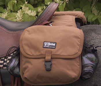 Cashel Quality Deluxe Horse Saddlebag, Padded Pockets Color: Brown Equine Saddlebags