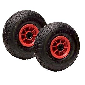Lote de 2 ruedas inflables 3.00-4 (2PR) para carretilla y carreta ...
