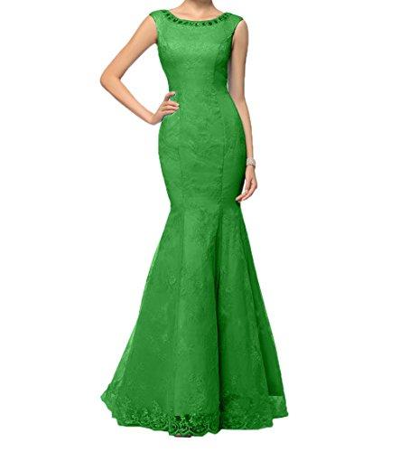Ballkleider Brautmutterkleider Damen Grün Spitze Edel Abschlussballkleider Abendkleider Charmant Partykleider UqXB1twzzx
