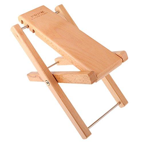 Jili Online Wooden Guitar Foot Rest Stool Pedal 4-Level Adjustable Height Beech by Jili Online