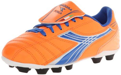 Diadora Soccer Forza MD JR Youth Soccer Shoe (Toddler/Little Kid/Big Kid),Orange/Blue,10 M US Toddler