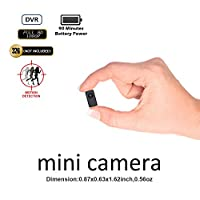 Hidden Camera Mini Camera DVR Fuvision Tinny Size 1080P FHD Bodyworn Camera Recorder Support 90 Minutes Continuous And Motion Detection Recording Camcorder Capture Color To Micro SD Card[Not included]