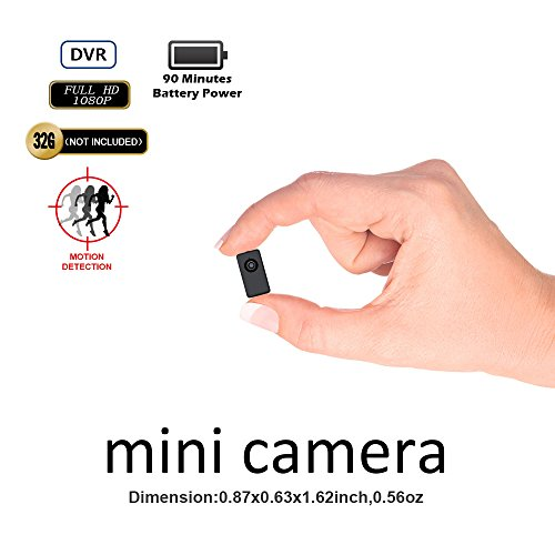 Covert Security Dvr (Hidden Camera Mini Camera DVR Fuvision Tinny Size 1080P FHD Bodyworn Camera Recorder Support 90 Minutes Continuous And Motion Detection Recording Camcorder Capture Color To Micro SD Card[Not included])