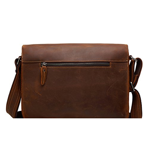 Per 12 Stile Bag Da Shoulder Marrone Uomini Borsa Notebook Retrò Borse Messenger Pollici 5wnOZqZ6Af
