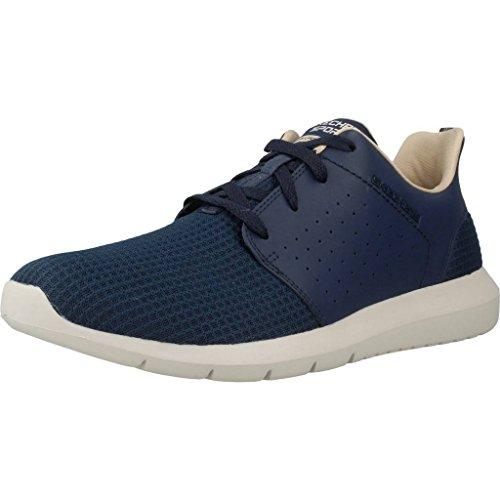 Noir de Chaussures Running Bleu Foreflex Skechers Homme wqXEA8WO
