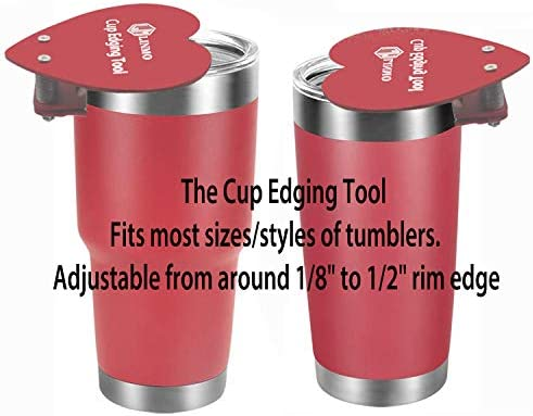 Work on Newly Applied Epoxy Glitter Edges to Remove the Rough Edges Cup Edging Tool for Custom Tumblers Perfect Partner to Cup Turner Ideal for Cutting Fabric
