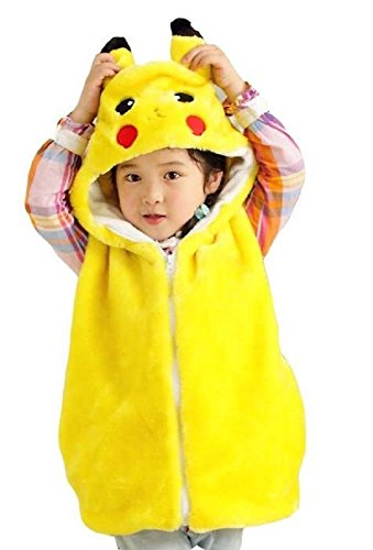 bettyhome Unisex-Baby Fashion Vest with Animal Hoodie for Kids - Dress Up Costume - Pretend Play (S Size (Height: 31.5