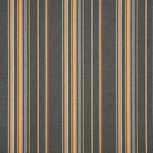 Sunbrella Indoor / Outdoor Upholstery Fabric By the Yard ~ Stanton Greystone ~ Orange Gray Brown - Greystone Finish
