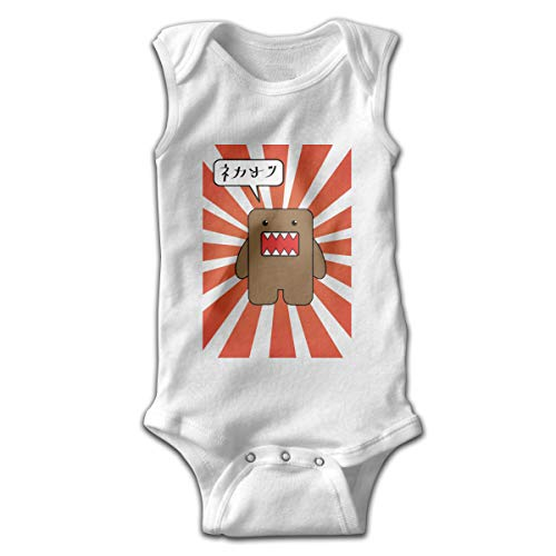 Sleeveless Baby Bodysuit Fashion Infantile Domo Suit 46 Gift White]()