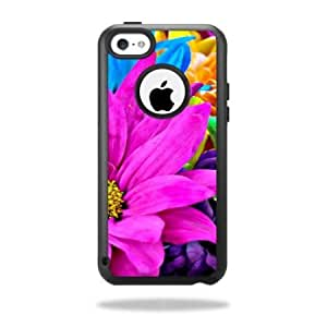 Bloutina Protective Vinyl Skin Decal Cover for OtterBox Commuter iPhone 5C Case Sticker Skins Colorful Flowers