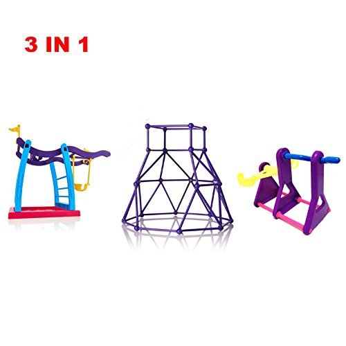 Twitterplaza 3 In 1 Seesaw Climbing Stand For Finger Monkey Baby Monkey Gym Jungle Swing