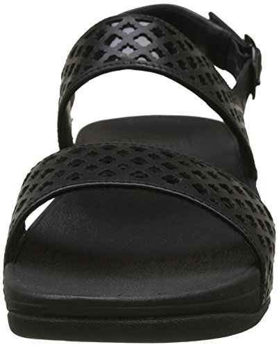 Sandali Black Nero All Leather Donna Fitflop Tacco con Tm Safi Strap pzWFwxqZSt