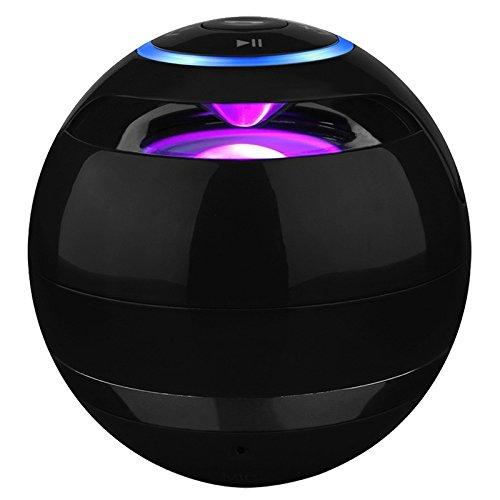 SODIAL(R) Portable Bluetooth wireless speaker Mini Subwoofer fashion Design for Smartphone, Black - Jar Bluetooth Speaker