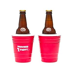 Proceed 2 Party Red Cup Insulated Drink Holder (Set of 2)