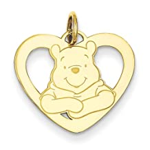 Gold and Watches Gold-plated SS Disney Winnie the Pooh Heart Charm