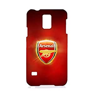 3D Customized Arenal Football Club Collection Football Club Logo Picture Hard Black Plastic Ultrathin Phone Cover For Samsung Galaxy S5