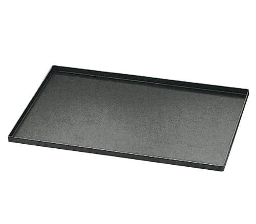 Matfer 455001 Blue Steel Oven Baking Sheet With Straight Edges, Black