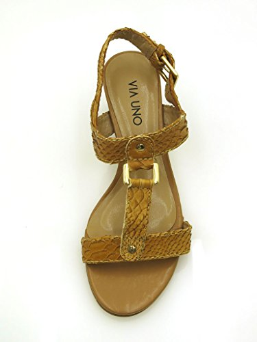 Via Aspect Cuir D'été 10944602 Croco Sandalette Cuir Chaussures En Uno Sandales FaqwrF