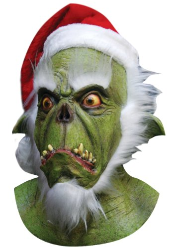 [Green Santa Grinch Mask] (Devil Masks For Sale)