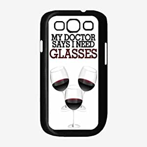 Funny Wine Glass Quote Plastic Phone Case Back Cover Samsung Galaxy S3 I9300