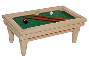 Billardtisch aus Holz hell Miniatur - Maßstab 1:12 - für Puppenstube...