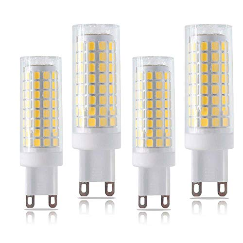 (SYX G9 Led Bulbs, 7w(75W Halogen Equivalent), AC110-130V 750lm, Warm White(3000K), Dimmable G9 Base Bulb for Home Lighting(4-Pack))