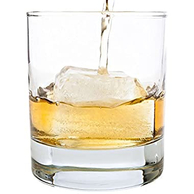 Taylor'd Milestones Scotch Glasses, 10 oz Set of 2 Diamond Etched Strong Old Fashioned Whiskey Glass