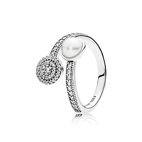 - PANDORA Luminous Glow, White Crystal Pearl And Clear CZ 191044CZ-52